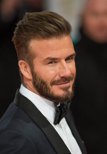 LONDON, ENGLAND - FEBRUARY 08: David Beckham attends the EE British Academy Film Awards at The Royal Opera House on February 8, 2015 in London, England. (Photo by Samir Hussein/WireImage)