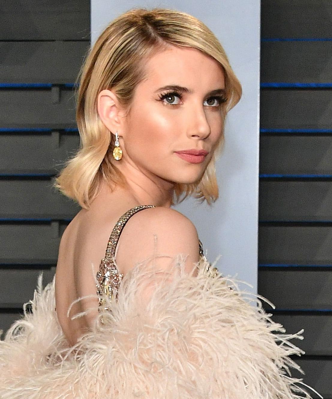 Emma-Roberts-Prada-Dress-Oscars-Afterparty-2018